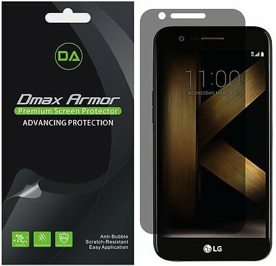 2-Pack Dmax Armor Privacy Anti-Spy Screen Protector for LG K20 Plus