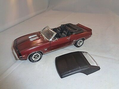 Crown Premiums 1969 Chevy Camaro Ss 396 Z28 Convertible 1:24 Die Cast Red Car!