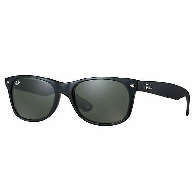 Ray-Ban RB2132 New Wayfarer Classic Sunglasses Black/ Green Classic 55mm