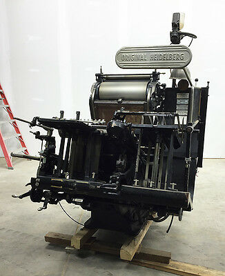 Heidelberg Windmill 13x18 / 12x18 Printing Press - LETTERPRESS