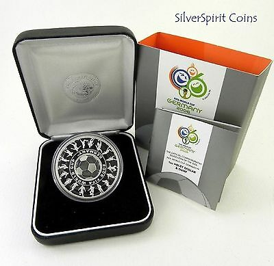 2006 $1 FIFA WORLD CUP GERMANY 1oz Silver Proof Coin.