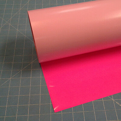 "Fluorescent Pink Siser EasyWeed 15"" by 15 Feet Heat Transfer Vinyl"