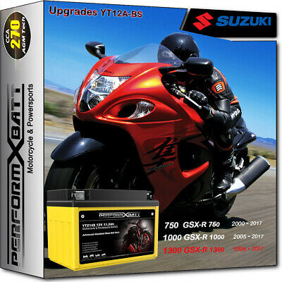 AGM Battery FT12A-BS Suzuki Super Sport GSXR1000 GSXR750 GSX1300R TL1000R