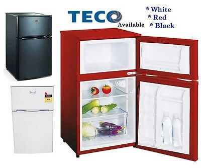 New Teco 2 Door Bar fridge -Big 25 L Freezer -Red   * 2 Yr Warranty -TBF84RMTA