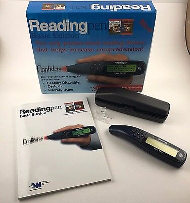 Wizcom Quicktionary II Portable Reading Pen Tool Basic Edition Scan & Hear WORKS