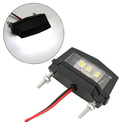 Motorcycle White Mini  LED License Plate Light for Honda Kawasaki Yamaha Suzuki