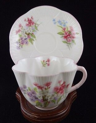 Shelley Dainty Stocks Fine Bone China Cup and Saucer England 13428