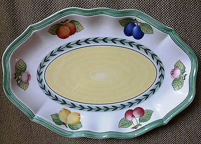 """Villeroy & Boch French Garden Fleurence 14¼"""" X 10½"""" Oval Tray – Great Condition!"""