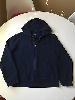 Polo By Ralph Lauren Boys Navy Hooded Jacket Size L (14-16)