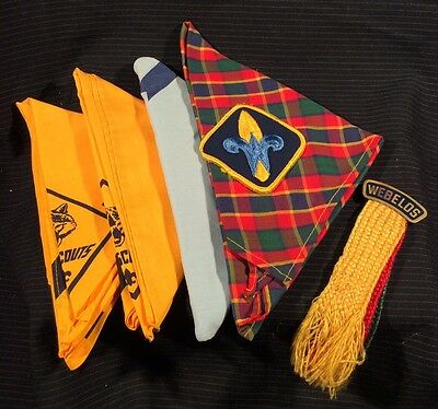 BSA Boy Scouts of America - Webelos Ribbon Pin - Cub Scouts With Scarfs