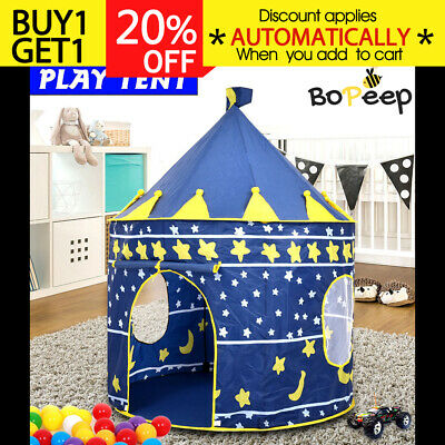 New Kid Children Play Tent Blue Castle Indoor Outdoor Playhouse Gift
