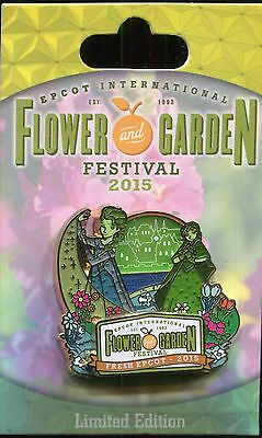 WDW 2015 Flower and Garden Festival Frozen Anna and Elsa LE Disney Pin 108194