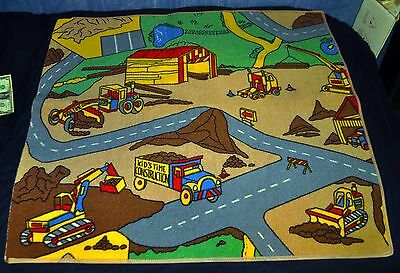 Learning Driving KIDS PLAY TIME ACTIVITY RUG 36 x 40 Construction Site