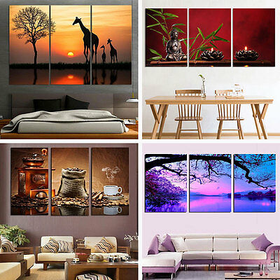3Pcs/lot 30X45cm Abstract Canvas Wall Painted Print Oil Painting Home Decor