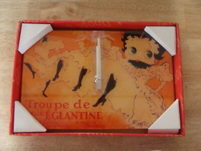 New!--Betty Boop Glass Wall Clock -New In Box