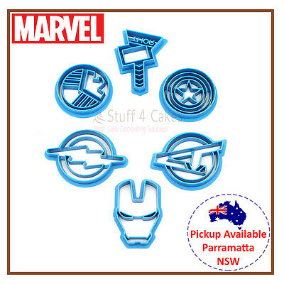 6 Piece Marvel Avengers Cookie Cutter Iron Man Captain America Thor Cupcake Set