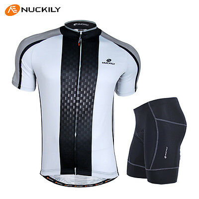 Men Cycling Bike Short Sleeve Jersey Pad Shorts Outfits Bicycle Sports Wear Sets