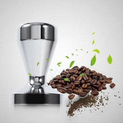 Sturdy Stainless Steel Flat Base Espresso Tamper Coffee Bean Press Tool Home Hot