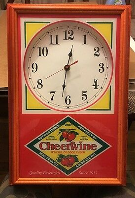 Winchester Wall Clock Cheerwine Cola Hanover Clocks Inc 1970s