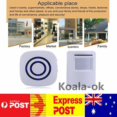 Wireless Digital Doorbell with PIR Sensor Infrared Induction Alarm Door Bell PN