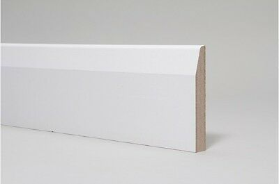 MDF Skirting Board White Primed - 14.5x119mm Chamfer Round - 4.2M Length (14ft)