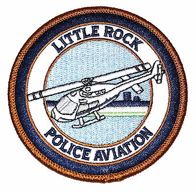 LITTLE ROCK – POLICE AVIATION - ARKANSAS AR Police Sheriff Patch HELICOPTER 3.5""