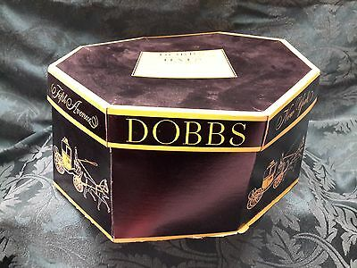 Vintage Dobbs 5th Avenue  Mens Hat With Hat Box