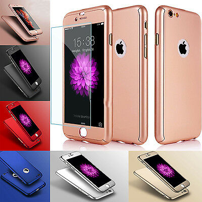 New Hybrid 360 Protect New Shockproof Case Tempered Glass Cover For Apple iPhone