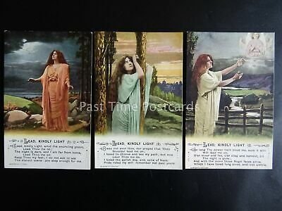 LEAD KINDLY LIGHT - Bamforth Song Cards set of 3 No.5015