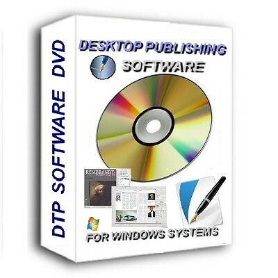 New Desktop Publisher Publishing Software Cd/dvd For Microsoft Windows Systems .