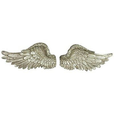 Angel Wings Feather Wall Art Hanging Sculpture Ornament Home Garden Décor PAIR