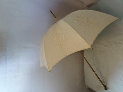 *Vintage White Parasol - Bridal Wedding - For Restoration*