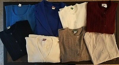Lot of 8 Button Front Sweaters / Cardigans - New wo Tags - Sz L to 4X