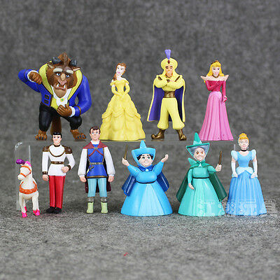 New Beauty and the Beast 10pcs/set Action Figure Toys Cake Topper Kid Gift 7-9cm