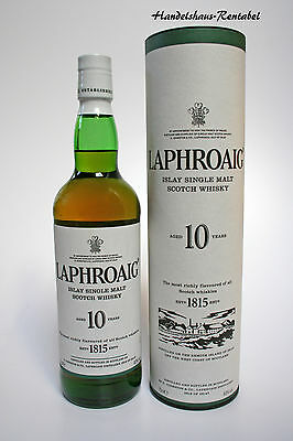 Laphroaig 10 Years Islay Single Malt Whisky 40% 0,7l in Geschenkdose (44,14€/L)