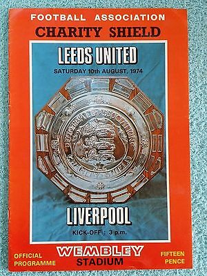 1974 - CHARITY SHIELD PROGRAMME - LEEDS UNITED v LIVERPOOL