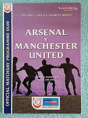 1999 - CHARITY SHIELD PROGRAMME - ARSENAL v MANCHESTER UNITED