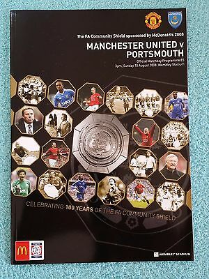 2008 - COMMUNITY SHIELD PROGRAMME - MANCHESTER UTD v PORTSMOUTH - V.G CONDITION
