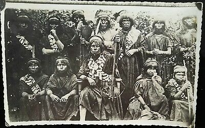 Vintage Original Amazon Tribe Campa Photo Peruvian Indians Forrest Peru Hunters