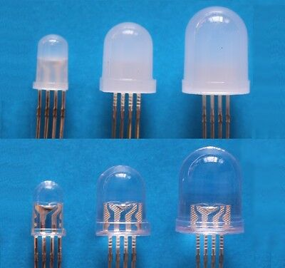 RGB LED 5810 mm DiffusedWater Clear Tri-Colour 4 Pin Common AnodeCathode