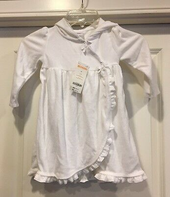 NWT Gymboree Girls White Terrycloth Swimsuit Cover Up Size 2T
