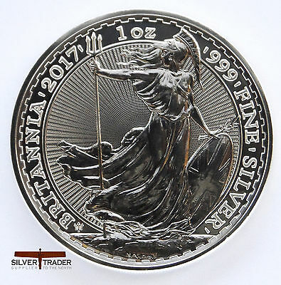 2017 1oz Silver Britannia 20th Anniversary 1 ounce Silver Bullion Coin unc: