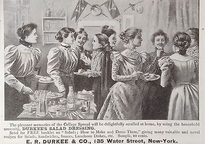 Antique 1898 Ad (1800-17)~E.r. Durkee & Co. Ny. Durkee's Salad Dressing