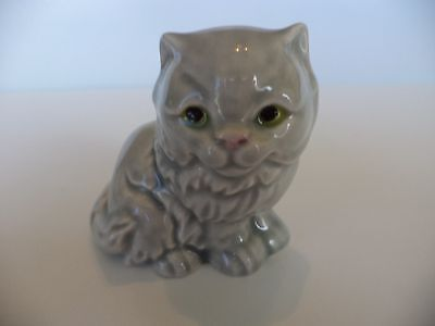 "Vintage Goebel W Germany 2"" Lt Grey Persian Cat Figurine Miniature"