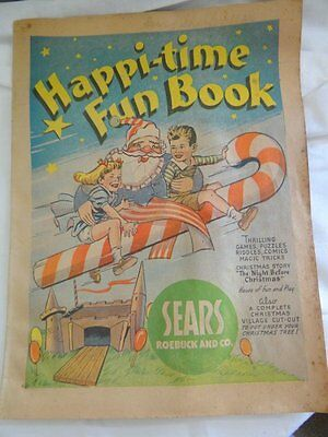 Happi-time Fun Book Sears Roebuck Christmas Advertising 1940s
