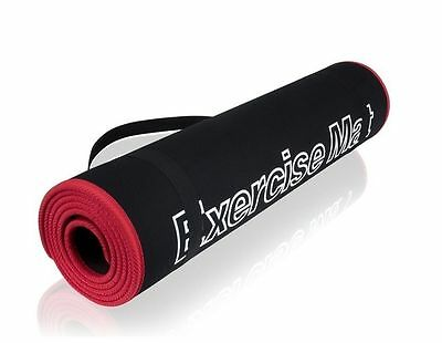 15mm Thick Yoga Mat Exercise Fitness Physio Pilates Gym Mats Non Slip Carrier
