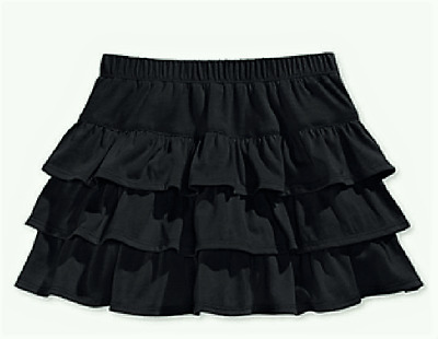 Epic Threads Baby Girls' Mix & Match Three-Tiered Scooter Skirt, Deep Black, 6