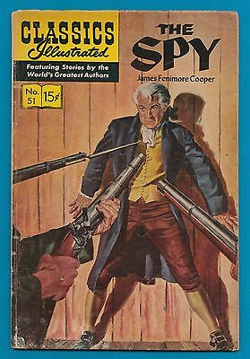 Classics Illustrated Comic Book 1966 The Spy # 51  #796