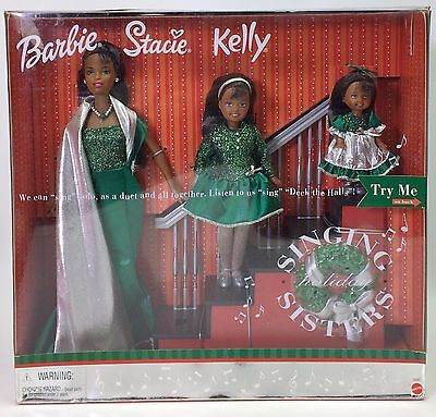 Barbie Stacie Kelly Holiday Singing Sisters African American Aa #2 Nrfb