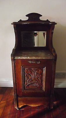 ANTIQUE WALNUT PURDONIUM (fireside coal scuttle) EDWARDIAN